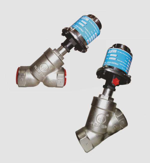 Pneumatic Angle Seat Valves On/Off